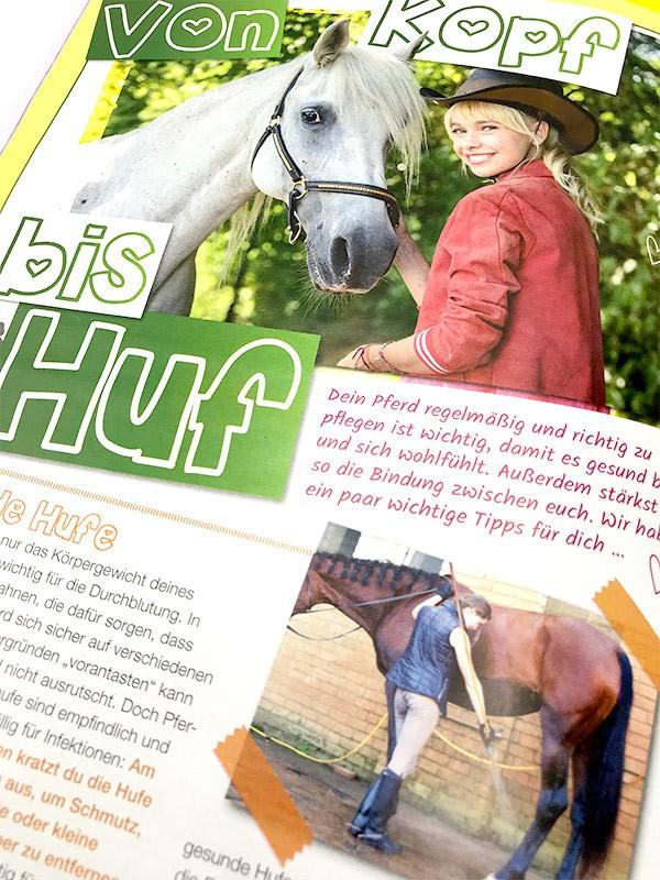 Bibi & Tina Magazin Innenseite Pferdewissen