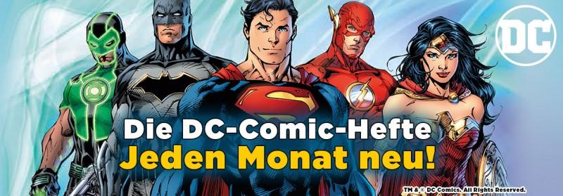 Die DC-Comic-Hefte – jeden Monat neu
