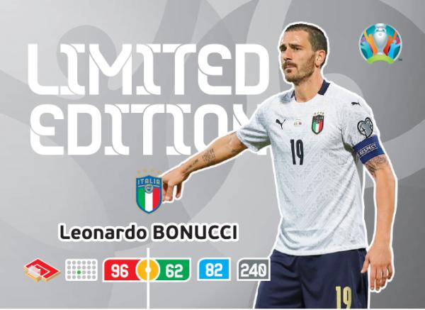 UEFA Euro 2020 Adrenalyn XL Limited Edition Card Leonardo Bonucci