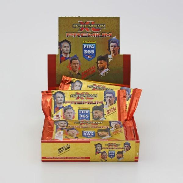 Panini FIFA 365 2018 Adrenalyn XL Trading Cards - Premium Box mit 12 Tüten