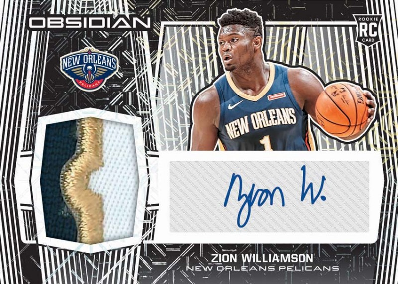 NBA Obsidian 2019/20 Trading Cards - Zion Williamson