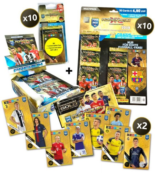 Panini FIFA 365 Adrenalyn XL 2019 Kollektion – Ultimate-Bundle