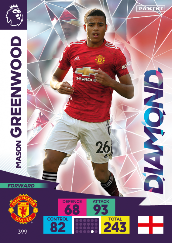 Panini Premier League Adrenalyn XL 2020/21 - Diamond - Mason Greenwood