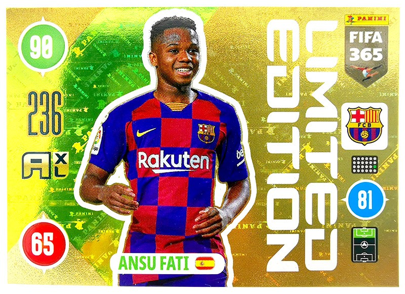 Panini FIFA 365 Adrenalyn XL - Limited Edition Card Ansu Fati