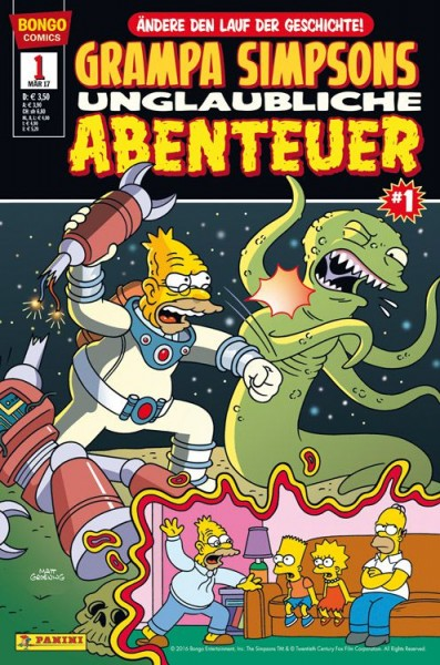 Simpsons Comics präsentiert: Grampa Simpsons unglaubliche Abenteuer 1