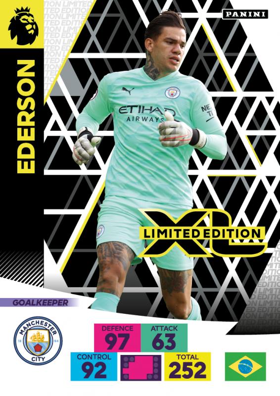 Panini Premier League Adrenalyn XL 2020/21 - Limited Edition Card - Ederson