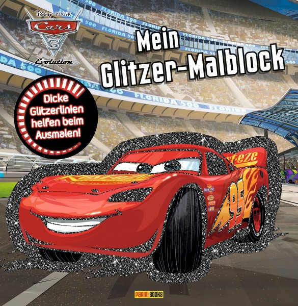 Disney: Cars 3 - Mein Glitzer-Malblock