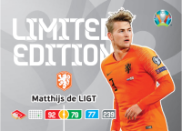 UEFA Euro 2020 Adrenalyn XL Limited Edition Card Matthjis de Ligt