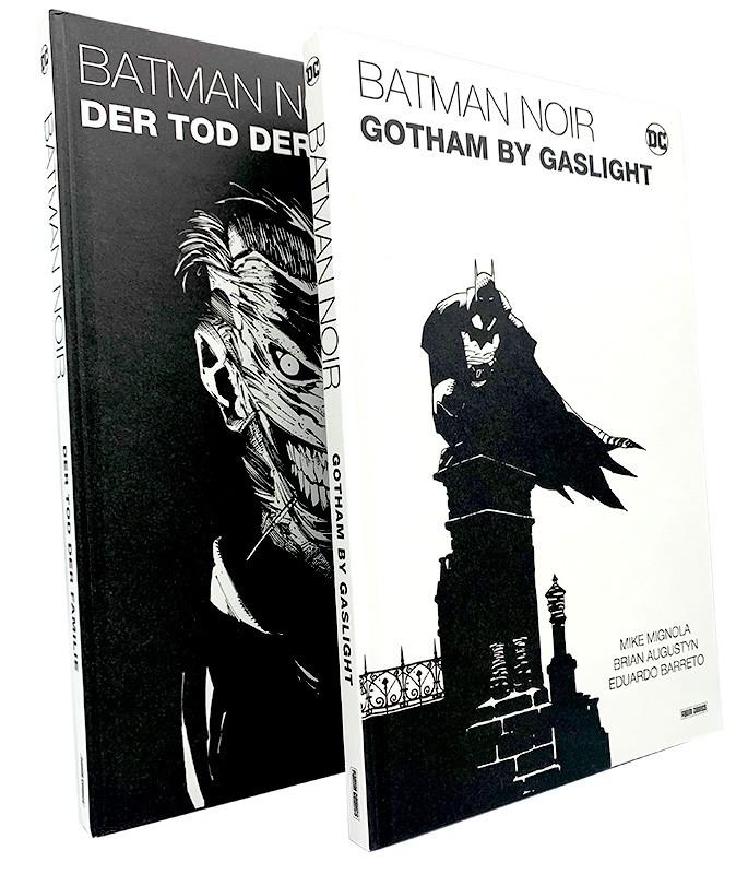 Batman Noir – Foto von den Comics Der Tod der Familie und Gotham by Gaslight