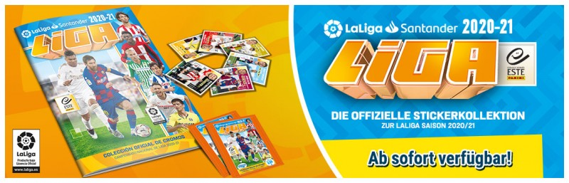 LaLiga 2020-21 - Die offizielle Stickerkollektion zur LaLiga Saison 2020-21 - Ab sofort verfügbar!