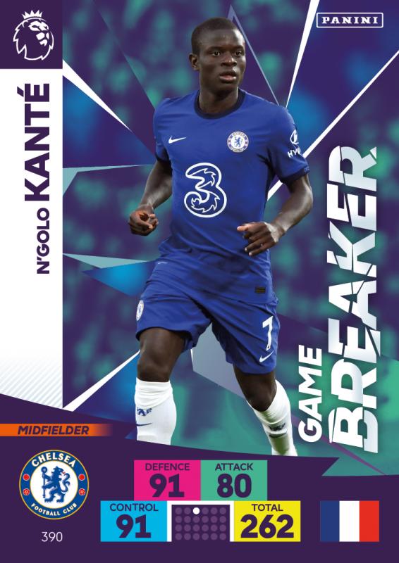 Panini Premier League Adrenalyn XL 202021 - Game Breakers - N'Golo Kante
