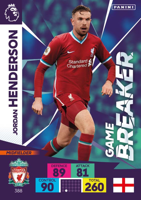 Panini Premier League Adrenalyn XL 202021 - Game Breaker - Jordan Henderson