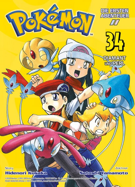 Pokémon - Die ersten Abenteuer 34 Diamant und Perl Cover