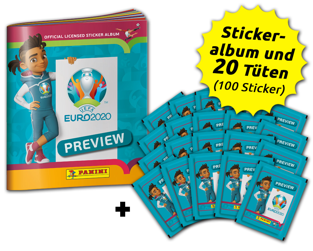 UEFA EURO 2020™ The Official Preview Collection - Sticker - Sammel-Bundle
