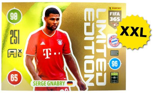 Panini FIFA 365 Adrenalyn XL 2021 Kollektion – XXL LE-Card Serge Gnabry Vorne