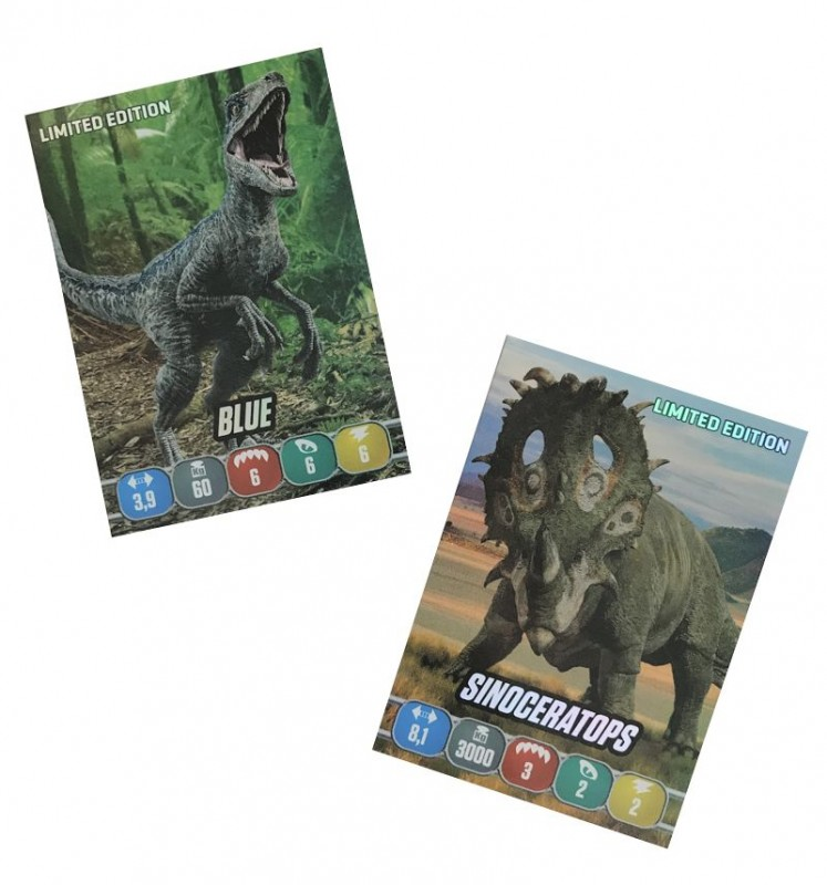 Jurassic World Anthology Sticker und Cards Limited Edition Cards aus Blister