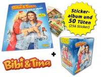 Bibi & Tina - Sticker - Box-Bundle Inhalt mit 50 Einzeltüten