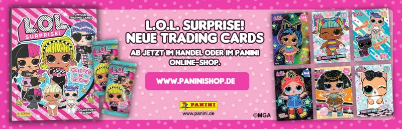 L.O.L. Surprise! Glitter n Glow Trading Cards Banner
