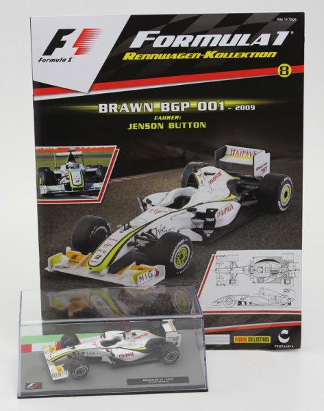 Formula 1 Rennwagen-Kollektion 8: Jenson Button (Brawn BGP 001)