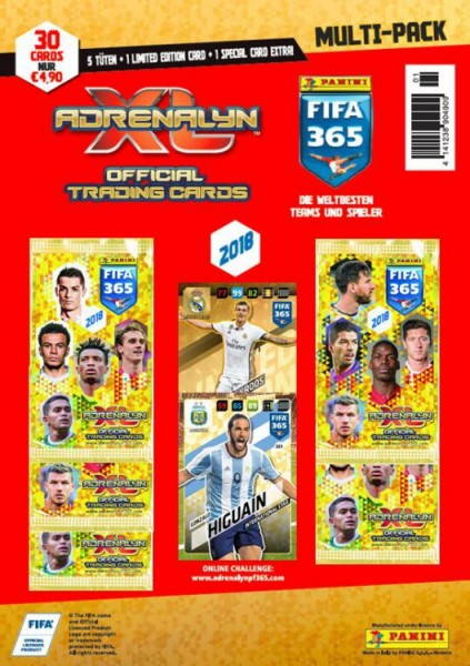 Panini FIFA 365 2018 Adrenalyn XL Trading Cards - Multipack