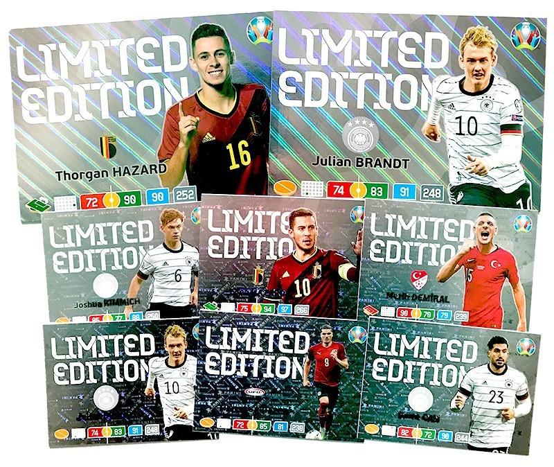 Übersicht der exklusiven Limited Edition Cards der UEFA Euro 2020 Adrenalyn XL