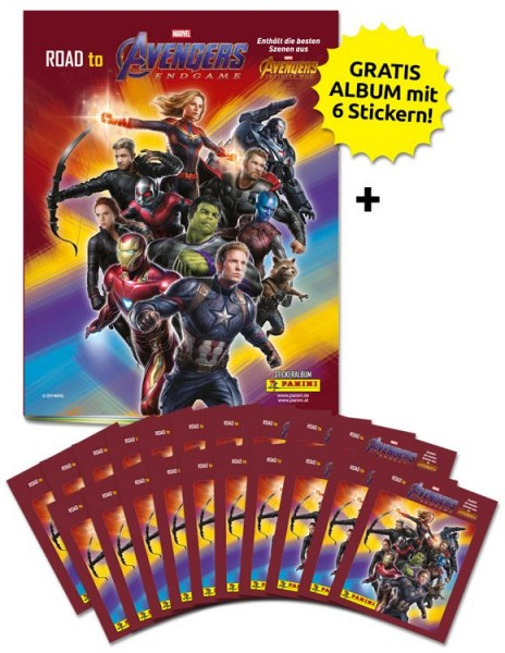 Road to Avengers Endgame - Sticker und Trading Cards - Sammelbundle