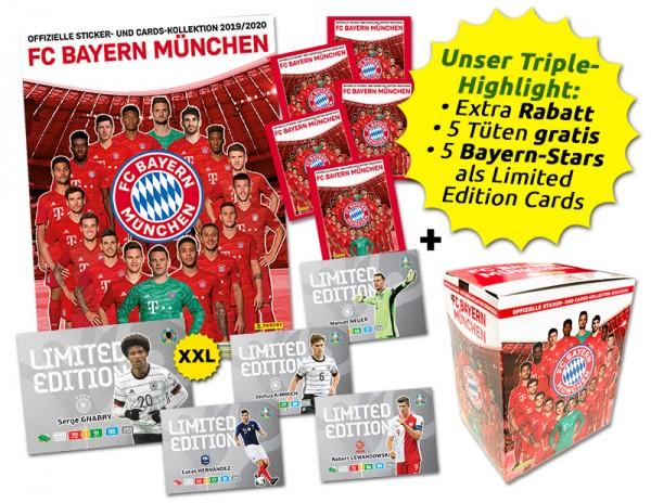 FC Bayern München - Sticker & Trading Cards Kollektion 2019-20 - Mega-Bundle