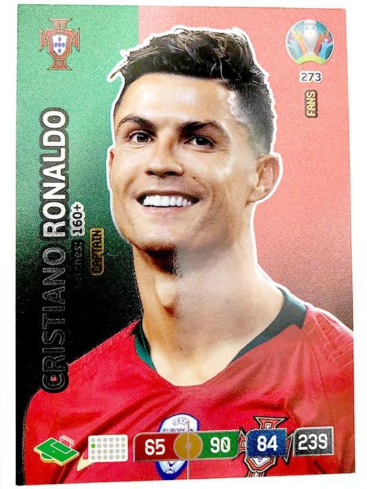 Abbildung von der Cristiano Ronaldo Card der UEFA Euro 2020 Adrenalyn XL