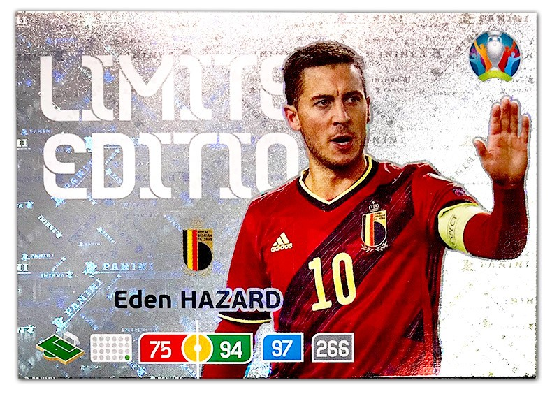 Abbildung der Euro 2020 Limited Edition Card von Eden Hazard
