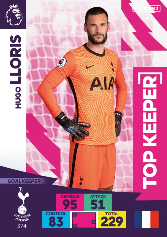 Panini Premier League Adrenalyn XL 2020/21 - Top Keeper - Hugo Lloris