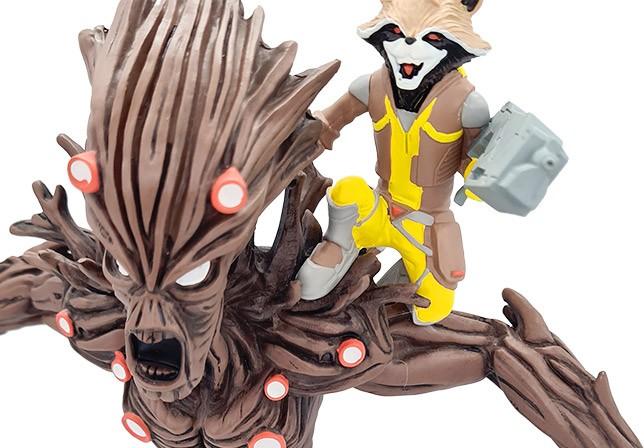 Groot und Rocket Raccoon Figur