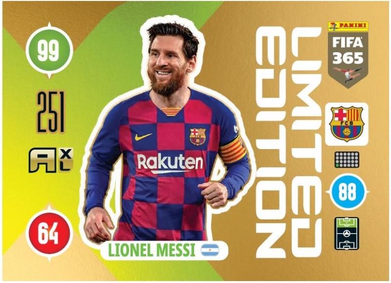 Panini FIFA 365 Adrenlayn XL 2021 - Limited Edition Card Lionel Messi