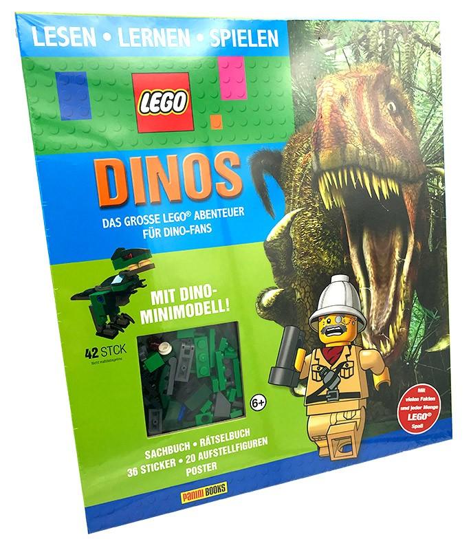 Lego Buch – Lesen Lernen Spielen – Dinos, das große Lego-Abenteuer für Dino-Fans
