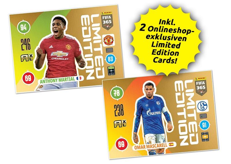 Panini FIFA 365 Adrenalyn XL 2021 - Limited Editon Cards Martial / Mascarell