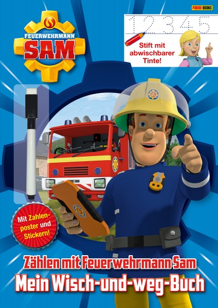 Feuerwehrmann Sam - Zählen mit Feuerwehrmann Sam: Mein Wisch-und-weg-Buch