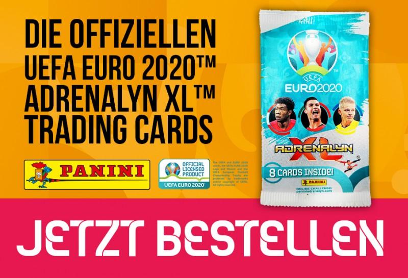 Die offiziellen Uefa Euro 2020 Adrenalyn XL Trading Cards – Jetzt bestellen