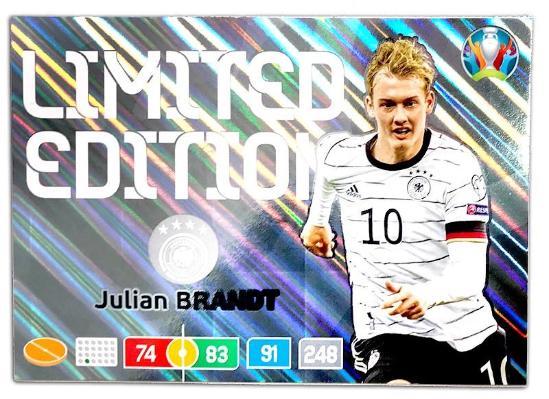 Abbildung der Euro 2020 Limited Edition Card von Julian Brandt XXL