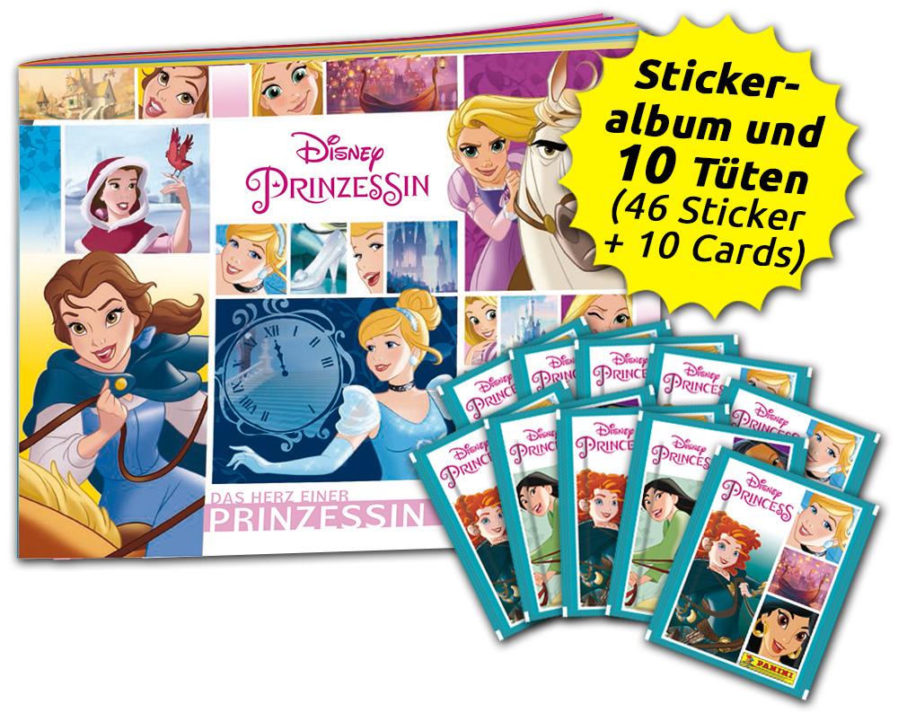 Panini Disney Prinzessin Sticker Sammelalbum 25 Tüten  Princess