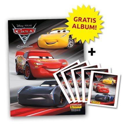 Cars Stickerkollektion - Stickeralbum und 5 Tüten