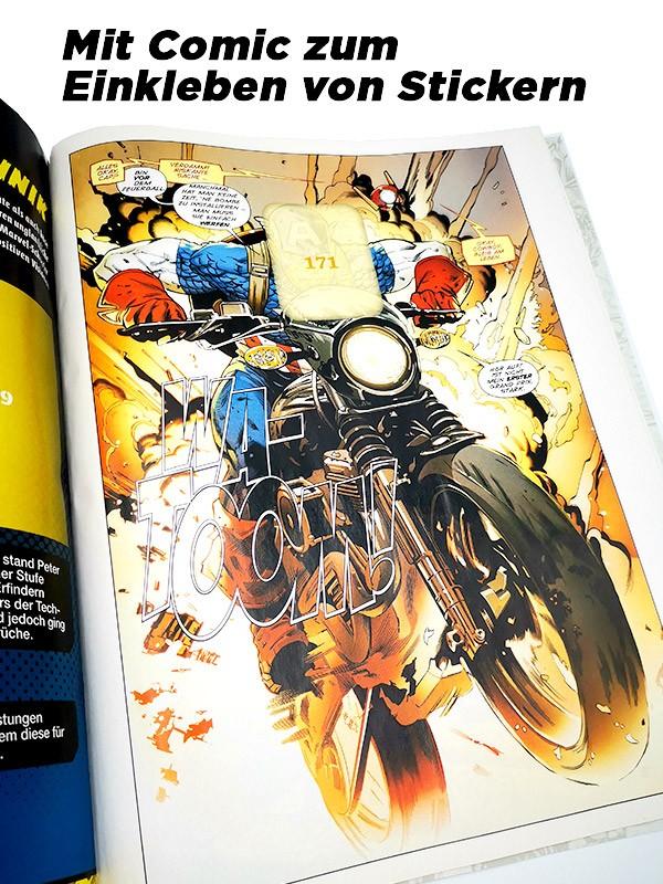 80 Jahre Marvel Sticker und Trading Cards - Innenansicht Highlights