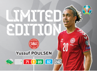 UEFA Euro 2020 Adrenalyn XL Limited Edition Card Yussuf Poulsen