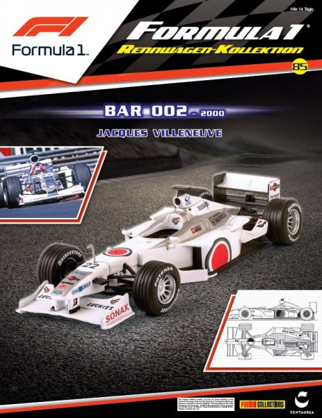 Formula 1 Rennwagen-Kollektion 85: Jacques Villeneuve (Bar 002) Cover
